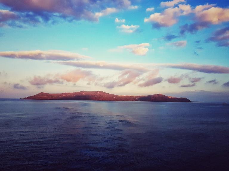 Waking up in Santorini